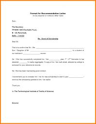 letter of recommendation sample format images letter samples format