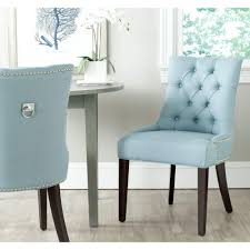 Blue Dining Set by Safavieh Harlow Light Blue Cotton Linen Side Chair Set Of 2