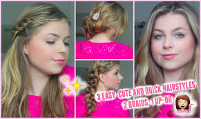 Hairstyles Easy And Quick by 3 Easy Quick And Cute Hairstyles For Work Lovely