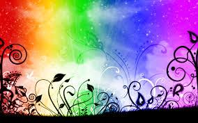 rainbow flowers wallpaper 1280x800 66622
