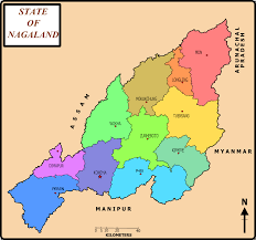 States Of India Map by List Of Districts Of Nagaland Wikipedia