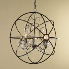 Iron Orb Chandelier Awesome Crystal And Metal Orb Chandelier Iron Orb Chandelier