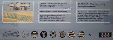 gute matratze novitesse 7 zonen taschenfederkernmatratze matratze 100 x 200 cm
