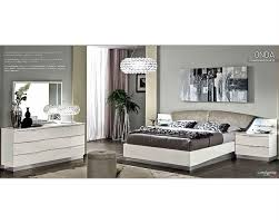 Contemporary White Lacquer Bedroom Furniture Modern Bedroom Set Onda In White Color 3313on