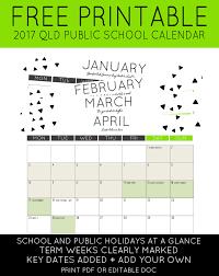 printable calendar queensland 2016 2017 qld public school holidays calendar maxabella loves