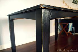 dining room table makeover ideas black distressed table makeover u2014 the thinking closet