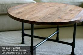 romantic round metal coffee table base with wooden and glass top