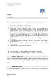 Fresher Electrical Engineer Resume Sample by Example Resume Of An Electrical Engineer Augustais