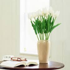 10 x simulation pu tulip flowers wedding home decoration