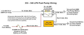 255 lph or larger fuel pump wiring diagram stinger performance