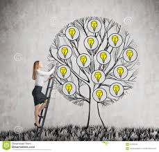 tree of ideas stock vector illustration of incandescent 33285736