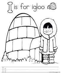 letter i for igloo alphabet color pages8916 coloring pages printable