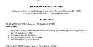 sle resume for customer service representative in bank 28 images