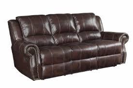 Top Grain Leather Reclining Sofa Burgundy Brown Top Grain Leather Reclining Sofa