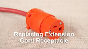 how to replace an outdoor 14 3 or 16 3 extension cord receptacle