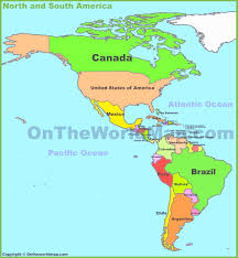 map us canada south america map of southwind adventures and central inside