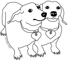 weiner dog coloring pages dachshund printable coloring pages doxie
