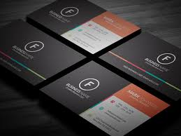 clean multicolor corporate business card template free download