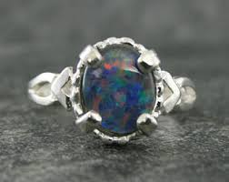 black opal ring etsy