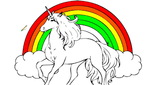 rainbow unicorn coloring pages coloring videos kids