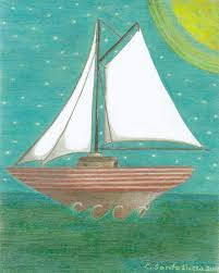 Sailboat Home Decor Cape Sail Away Sailboat Cape Cod Beach Nautical Colorful