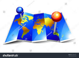 World Map Pins by Blue Shiny World Map Pins On Stock Illustration 100273751