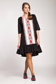 rochie etno rochie neagra poplin cu imprimeu etno boemurban ro