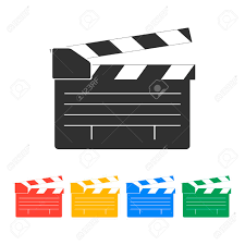 design board maker movie clapper board movie maker vector flat design style royalty