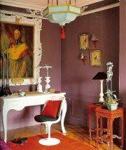 interior decorating and paint colors trends in deep purple colors