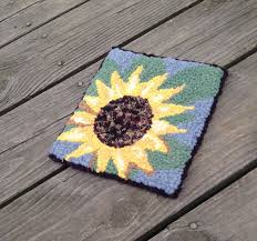 in gift the sunflower complete primitive beginner rug hooking kit in