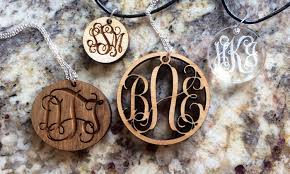 Monogrammed Necklace Monogrammed Necklaces Lilydeal Groupon