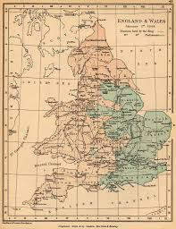 Kent England Map by Of England And Wales January 1 1644