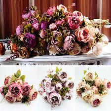 Artificial Peonies Silk Peonies Wedding Flower Ebay