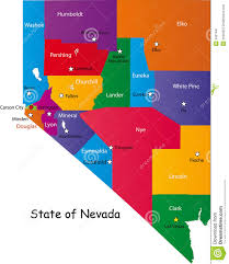 nevada counties map state of nevada stock image image 9421441