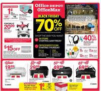 home depot black friday add 2016 office depot and officemax black friday 2016 ad scan