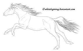 free horse lineart flying winged unicorn by whiteligtning on