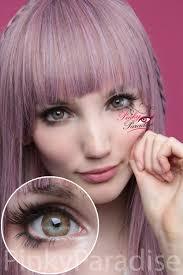 light blue cosplay contacts vassen rainbow eyes brownish hazel circle lens pinkyparadise