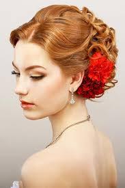 Hochsteckfrisurenen Locken Kurz by Romantisch Hochgesteckte Haare Mit Blüten Moderne