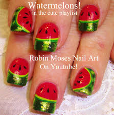 Toe Nail Art Designs For Beginners Easy Nail Art For Beginners Diy Watermelon Design Youtube