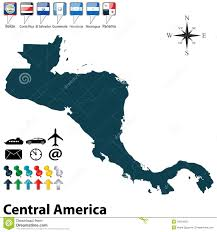 Political Map Of Central America by Central America Political Map Mapsofnet Political Map Of Central