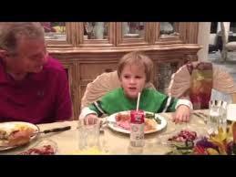 cutest boy saying grace on thanksgiving