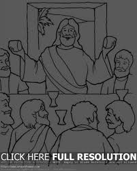 the last supper coloring page last supper picture holy thursday