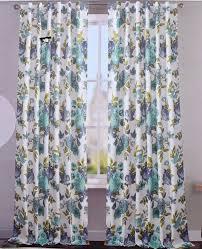 Blue Floral Curtains Blue Floral Window Curtains Curtain Rods And Window Curtains