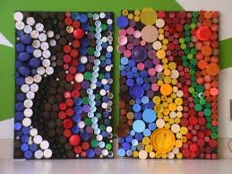 recycle plastic bottles into art bottle cap art lesson plans