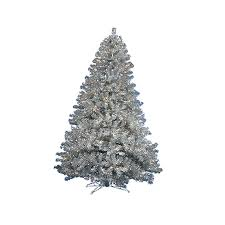 lowes artificial christmas trees with lights shop northlight 6 ft pre lit tinsel artificial christmas tree with