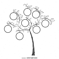 simple family tree drawing simple bw family tree template vector