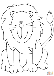 lovely cartoon lion coloring page free printable coloring pages
