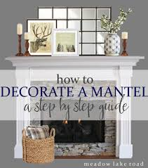 step by step idea for decorating a mantel hometalk