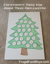countdown tree for tree ornaments