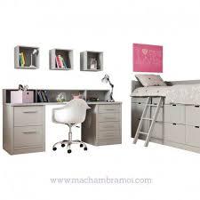 bureau surélevé superbe chambre enfant avec lit enfant surélevé grand bureau et